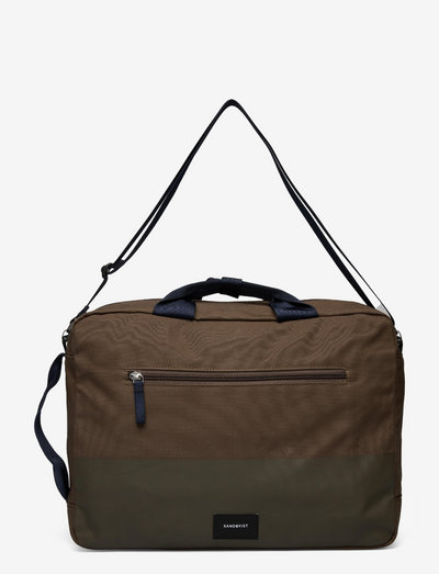 BRUNO - laptop bags - olive with coating