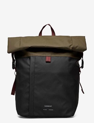 KONRAD - plecaki - multi black/olive