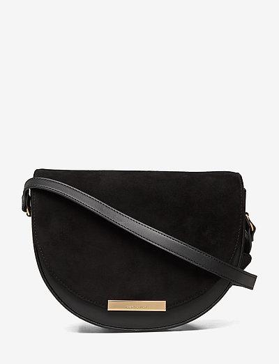 SELMA - shoulder bags - black with black suede