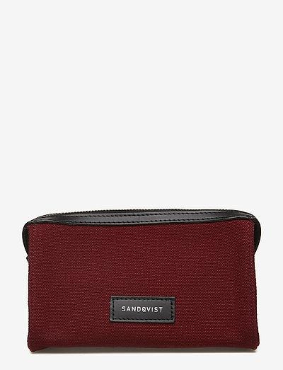 INA - cosmetic bags - burgundy