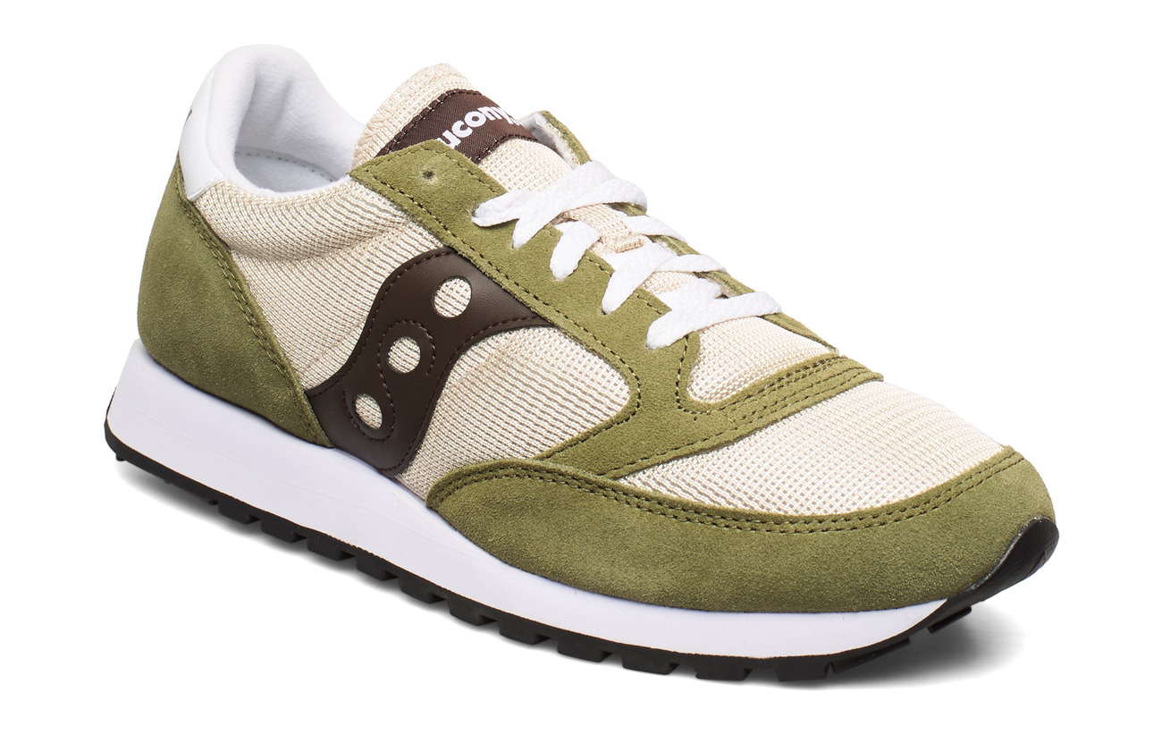 Saucony Originals JAZZ ORIGINAL VINTAGE - TAN/OLV/BRN