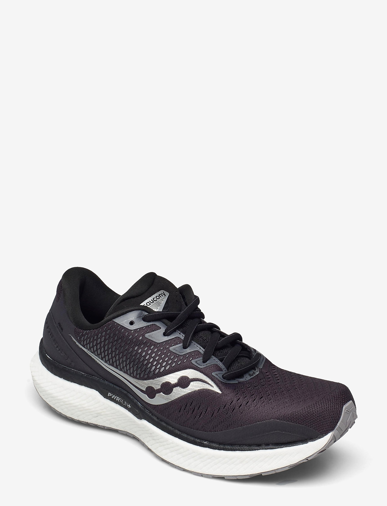 Saucony - TRIUMPH 18 WIDE - löbesko - charcoal/white - 0