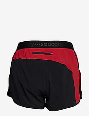 "Saucony - SPLIT SECOND 2.5"" SHORT - träningsshorts - black/saucony red - 1"