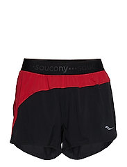 "SPLIT SECOND 2.5"" SHORT - BLACK/SAUCONY RED"