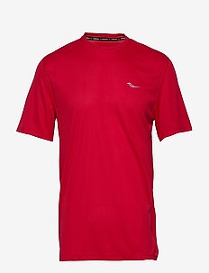 STOPWATCH SHORT SLEEVE - sportoberteile - saucony red