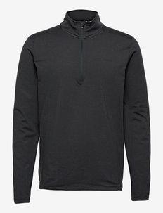 SUNDAY 1/4 ZIP - långärmade tröjor - black heather