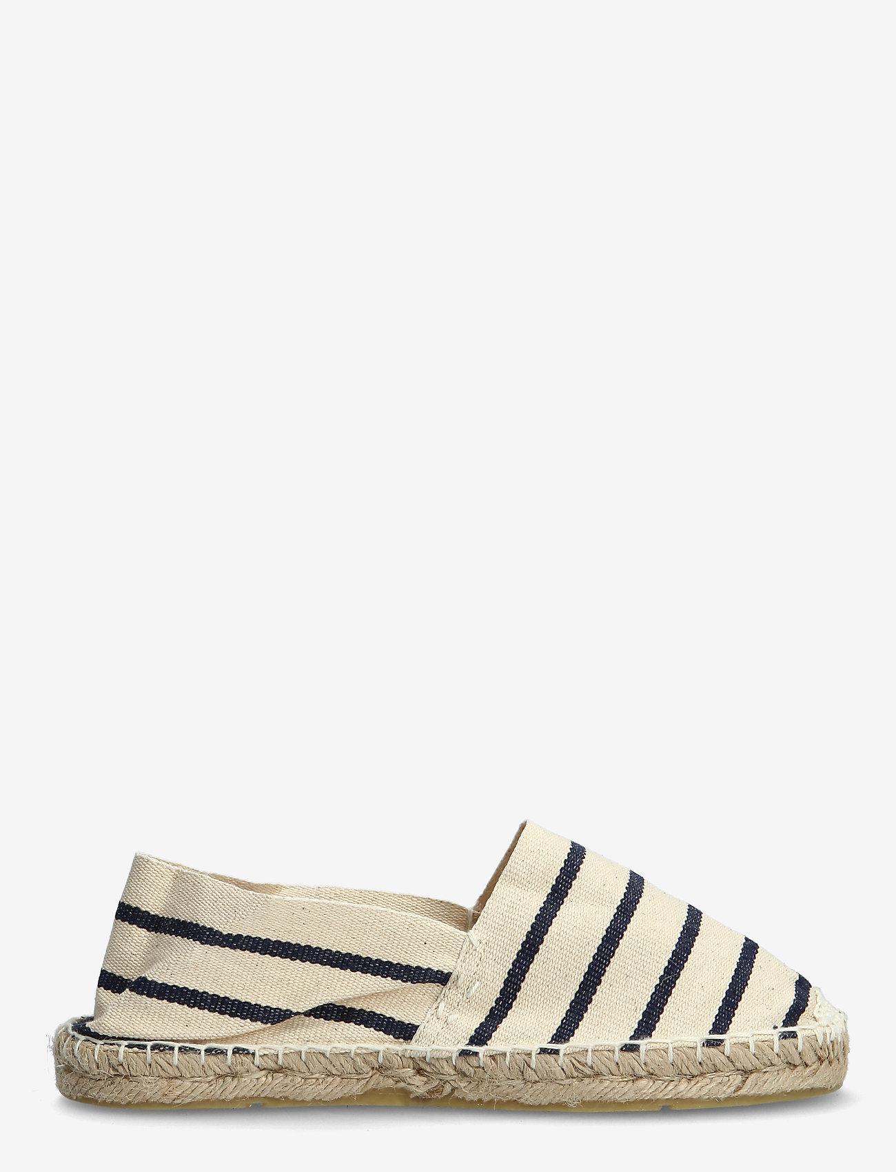 Scampi - ESPADRILLOS - platta espadriller - stripe marine /offwhite - 1