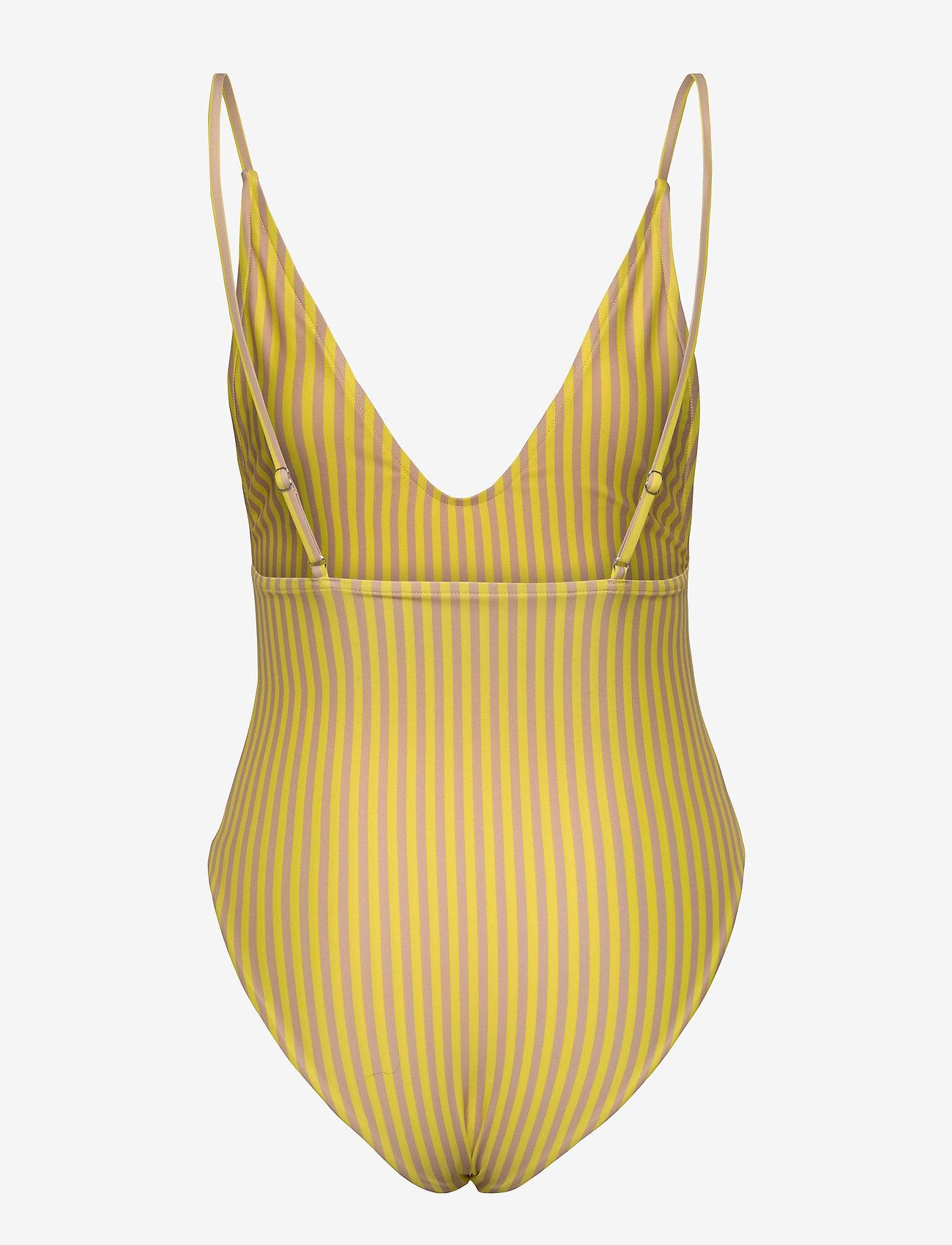 Scampi - JAVA - badedragter - stripe lemon - 1
