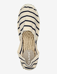 Scampi - ESPADRILLOS - platta espadriller - stripe marine /offwhite - 3