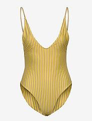 Scampi - JAVA - badedragter - stripe lemon - 0