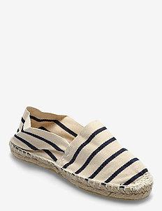 ESPADRILLOS - platta espadriller - stripe marine /offwhite