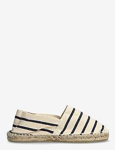 ESPADRILLOS - flache espadrilles - stripe marine /offwhite