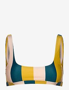 COMODO - bikini tops - block stripe petrol