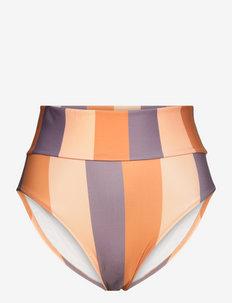 SARA - bikini z wysoką talią - block stripe patchouli