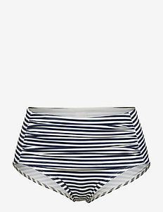 RITA - bikini hosen - stripe marine /offwhite