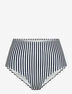 CARACAS - bikinitruser med høyt liv - stripe marine /offwhite