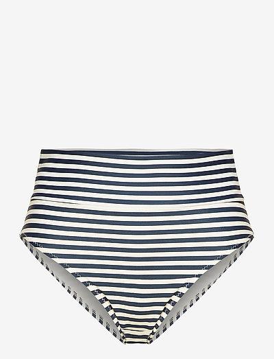 SARA - bikini bottoms - stripe marine /offwhite