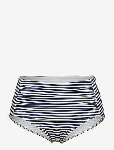 RITA - bikinitrosor - stripe marine /offwhite