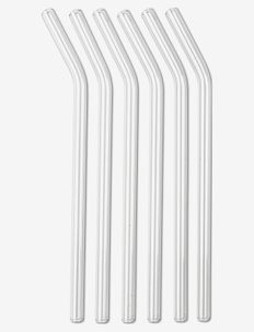 Straw in glass set 6-pack - drink & barutstyr - no colour