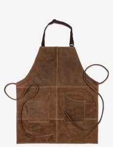 Apron Vintage Leather - forklæder - brown