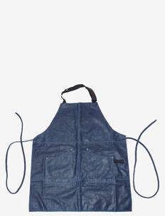 Apron vintage leather denim - forklæder - denimblue