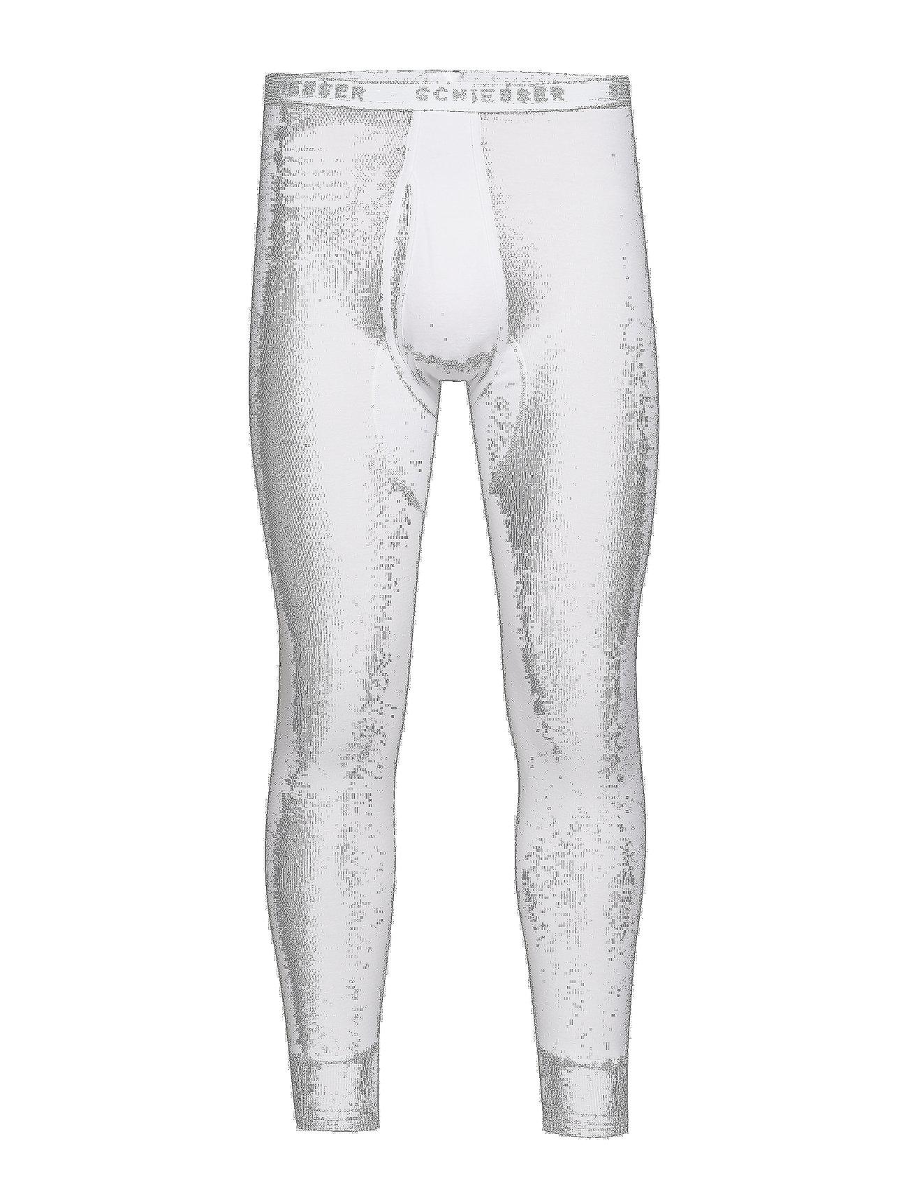 Schiesser Long Pants - WHITE