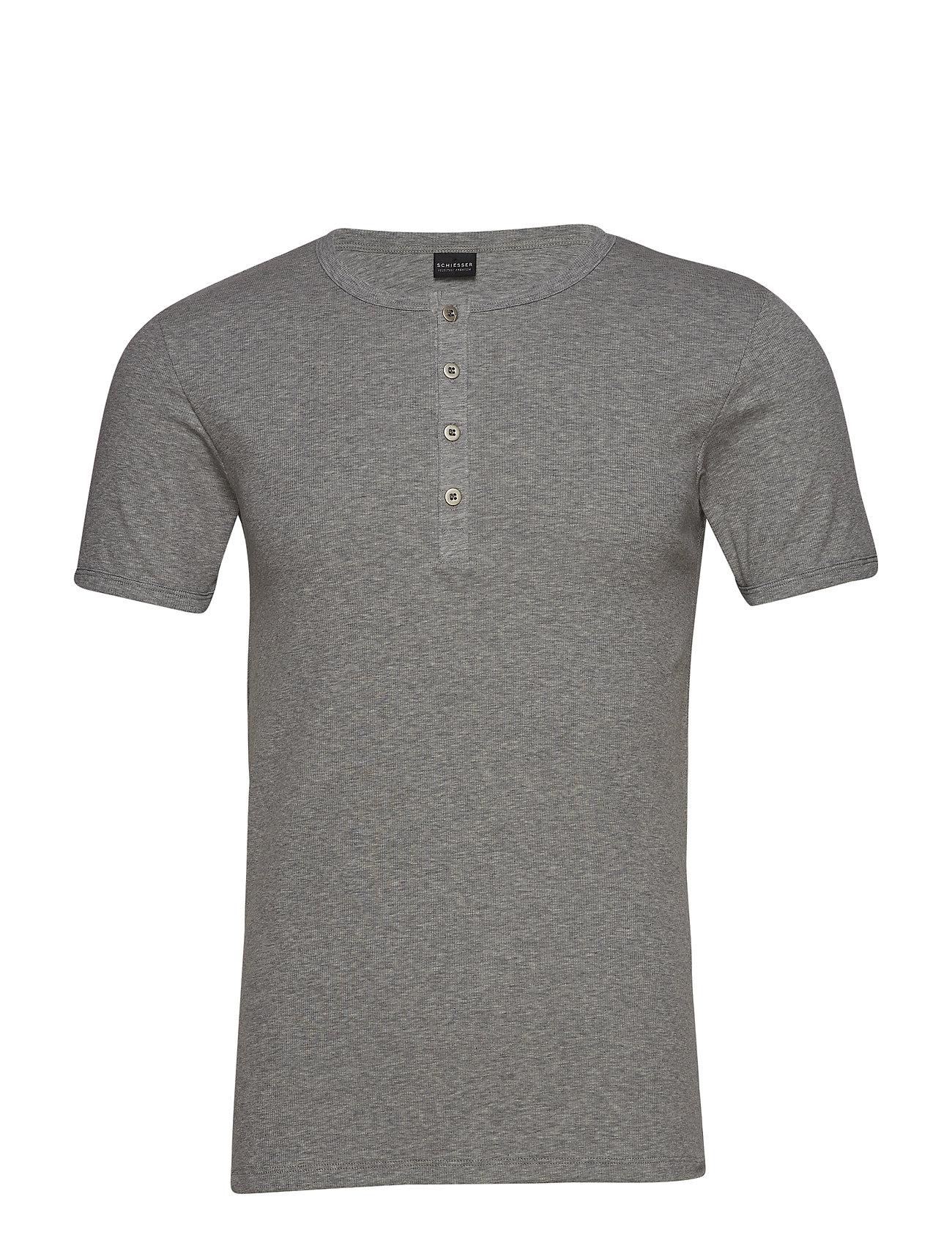 Schiesser Shirt 1/2 - GREY MELANGE