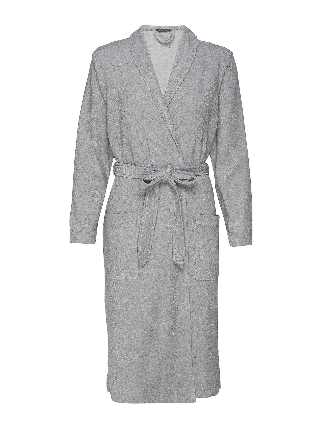 Schiesser Bath Robe - GREY MELANGE