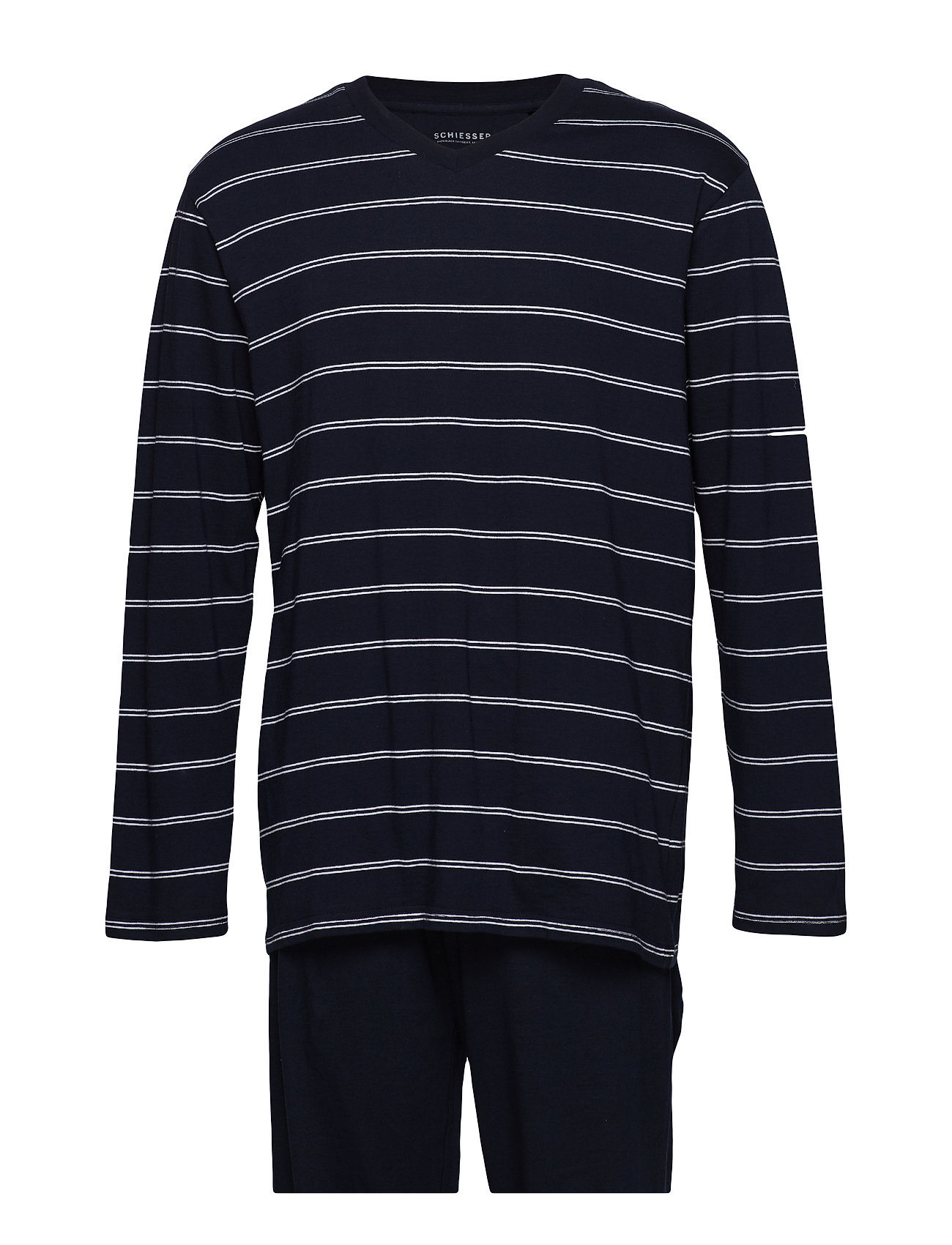 Schiesser Pyjama Long - DARK BLUE