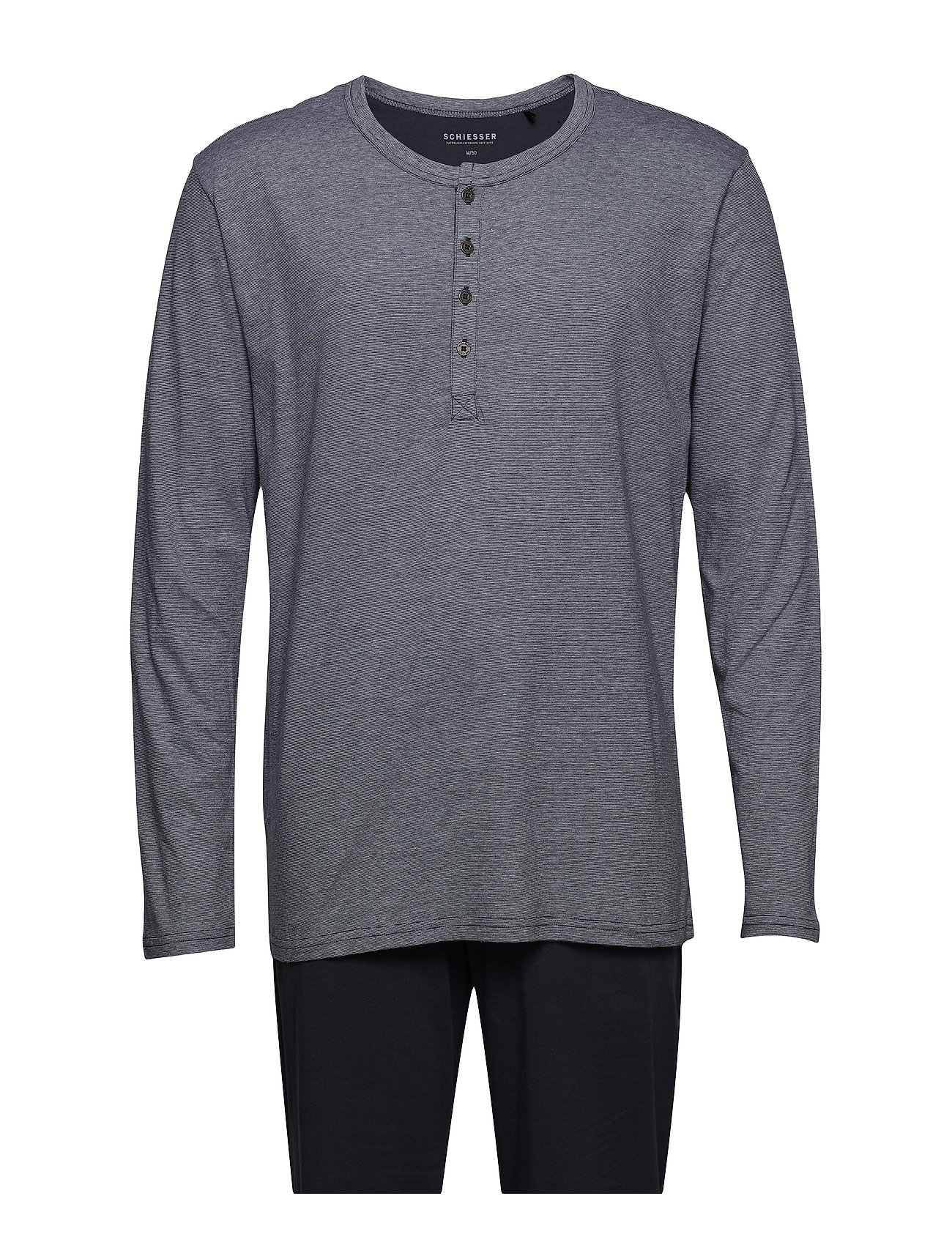 Schiesser Pyjama Long - ANTHRACITE