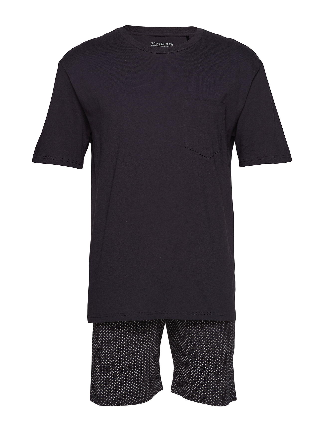 Schiesser Pyjama Short - ANTHRACITE
