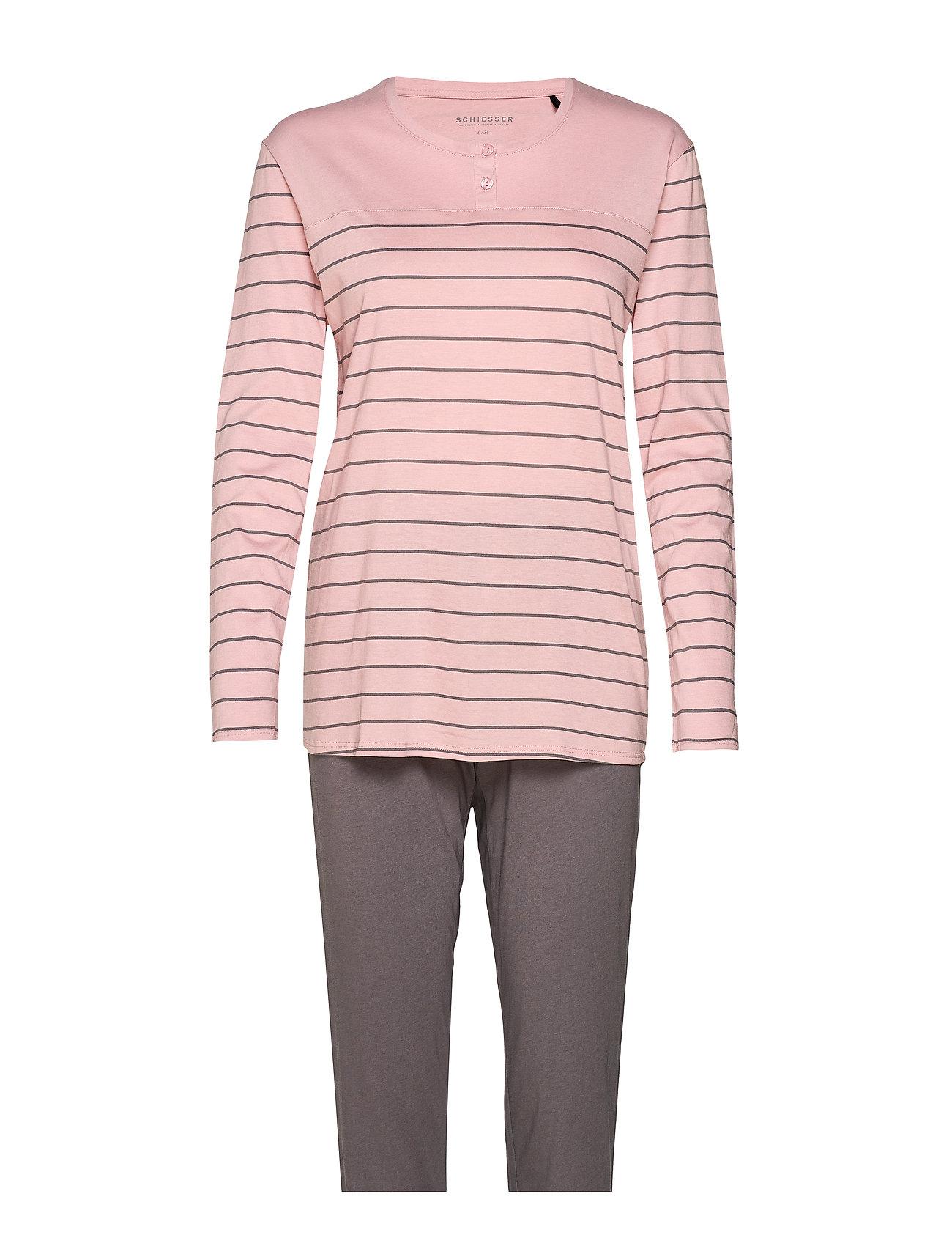 Schiesser Pyjama Long - ROSEWOOD
