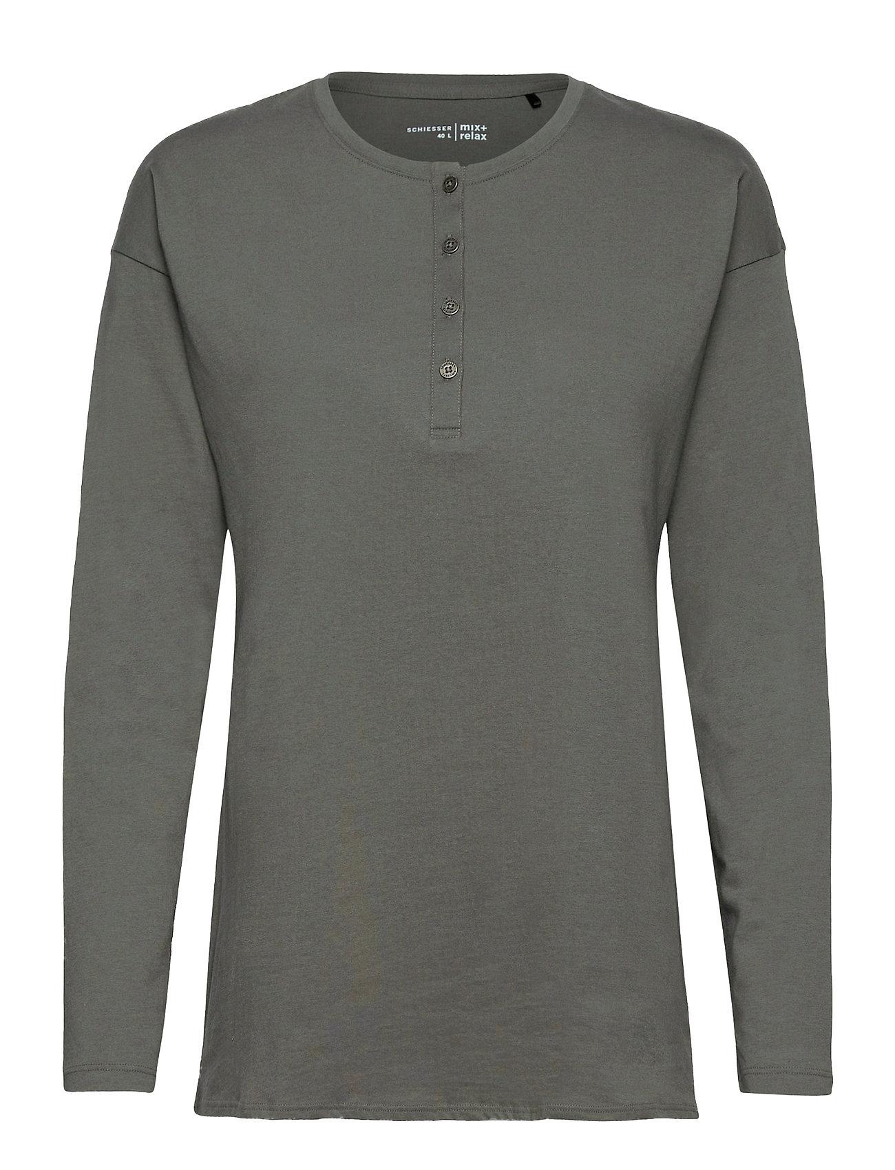 Image of Shirt 1/1 Top Grøn Schiesser (3485991565)