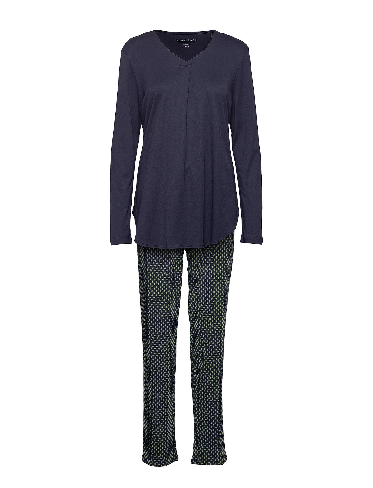 Schiesser Pyjama Long - NIGHTBLUE