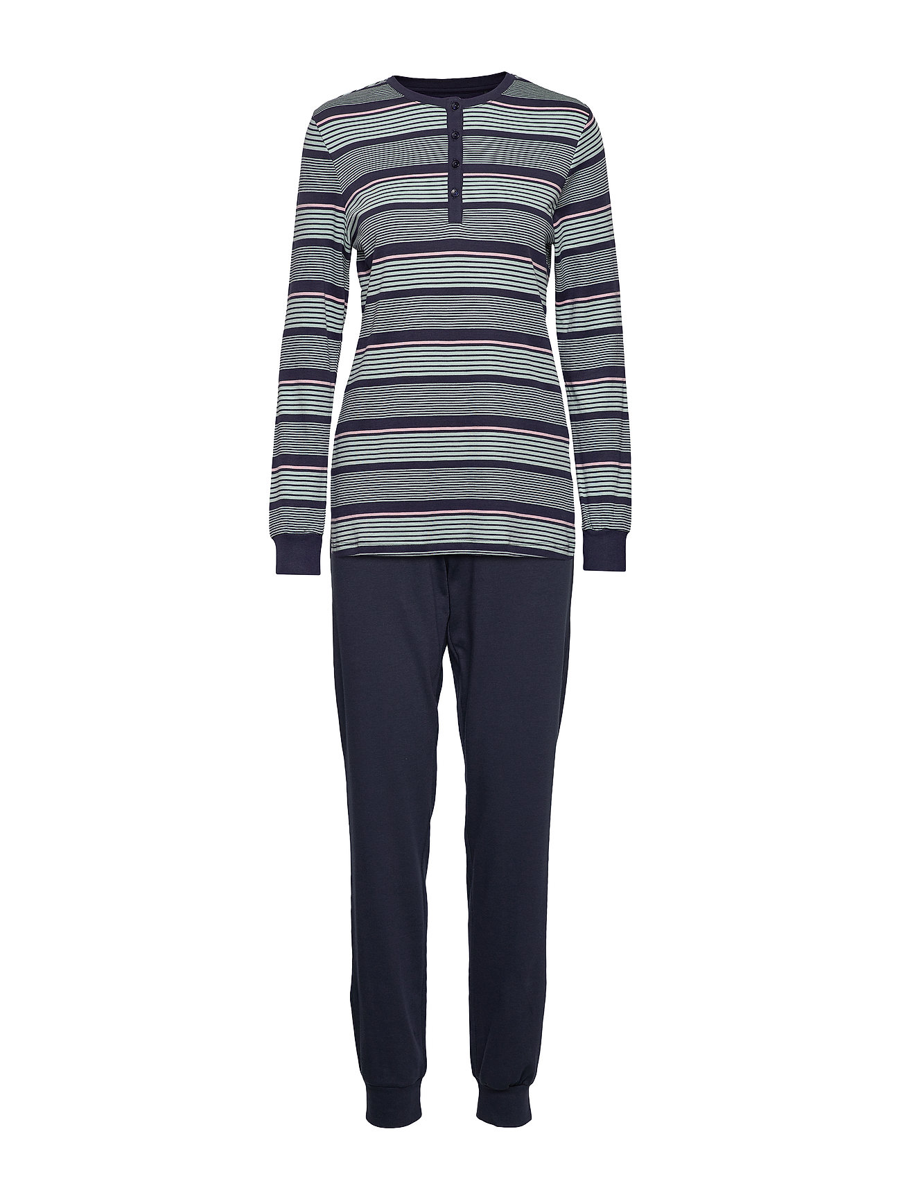 Schiesser Pyjama Long - NIGHTBLUE