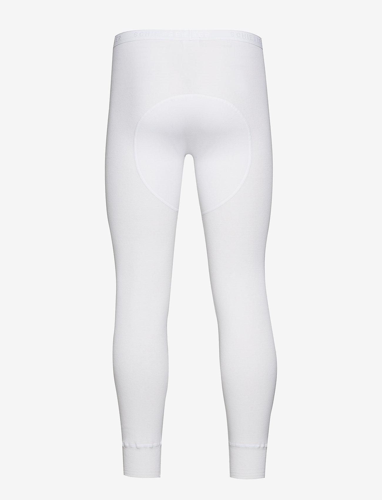 Schiesser - Long Pants - base layer underdeler - white - 1