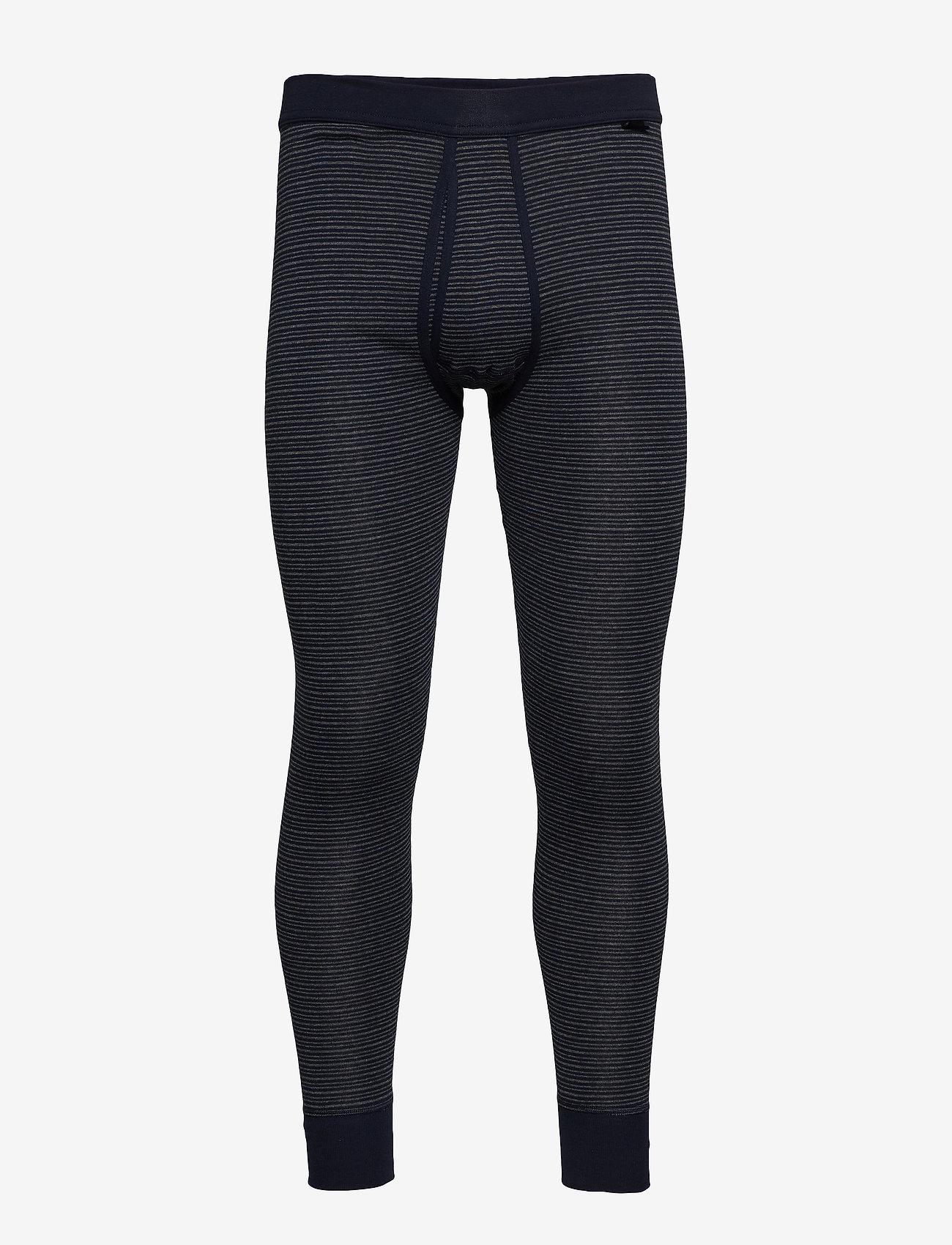Schiesser - Long Pants - base layer underdeler - dark blue - 0