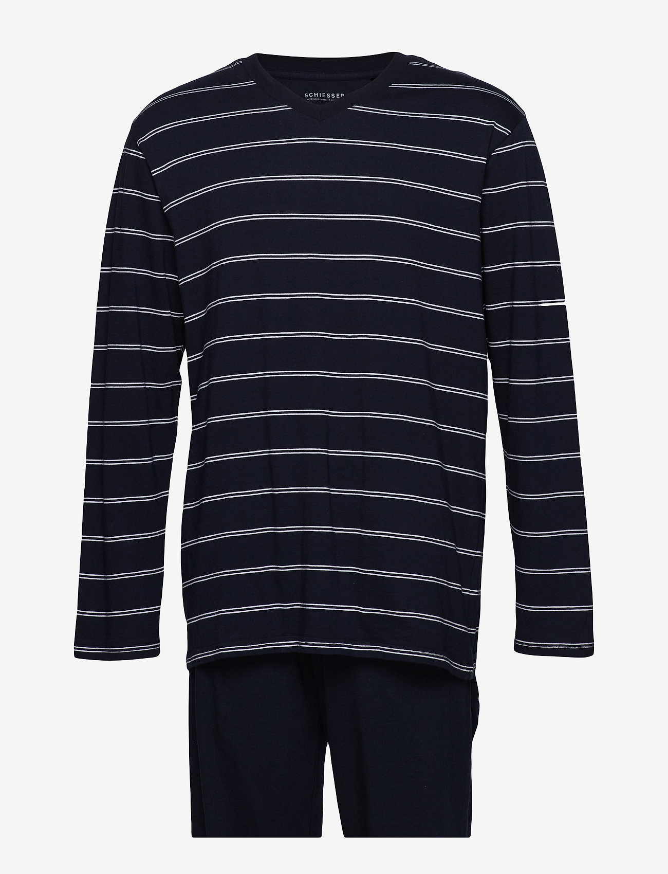 Schiesser - Pyjama Long - pyjamas - dark blue - 0