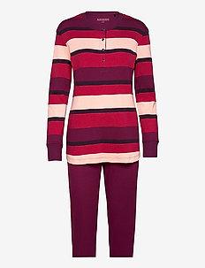 Pyjama Long - sets - plum