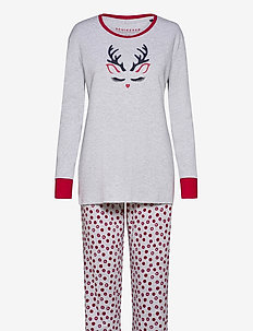 Pyjama Long - pyjama''s - grey melange