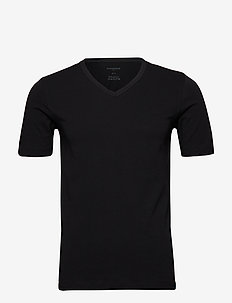 V-Neck - basic t-shirts - black
