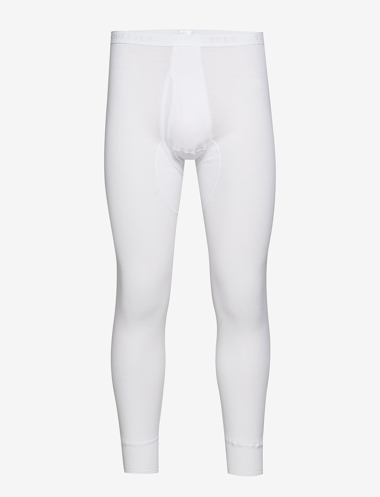 Schiesser - Long Pants - base layer bottoms - white - 0