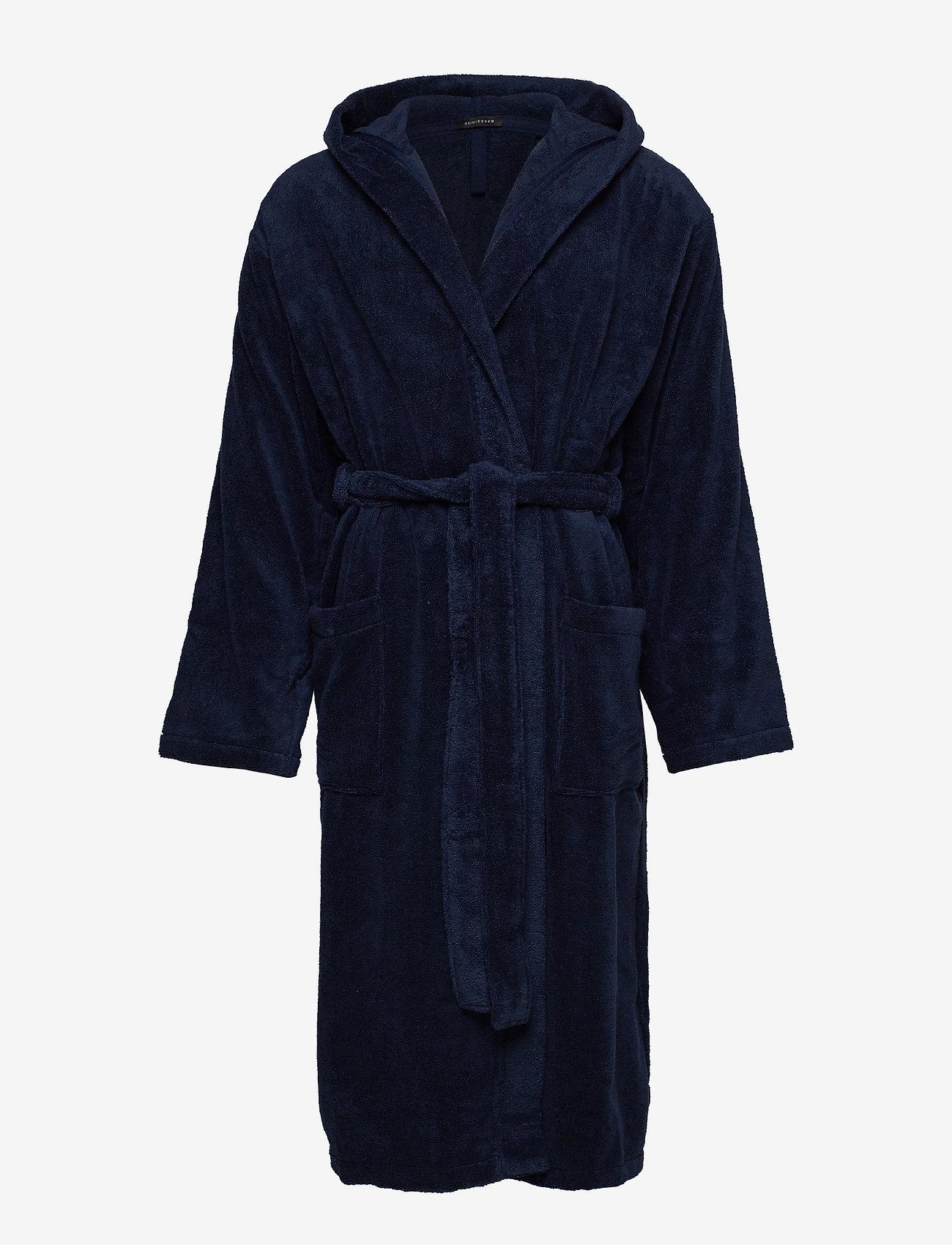 Schiesser - Bath Robe - badjassen - navy - 0