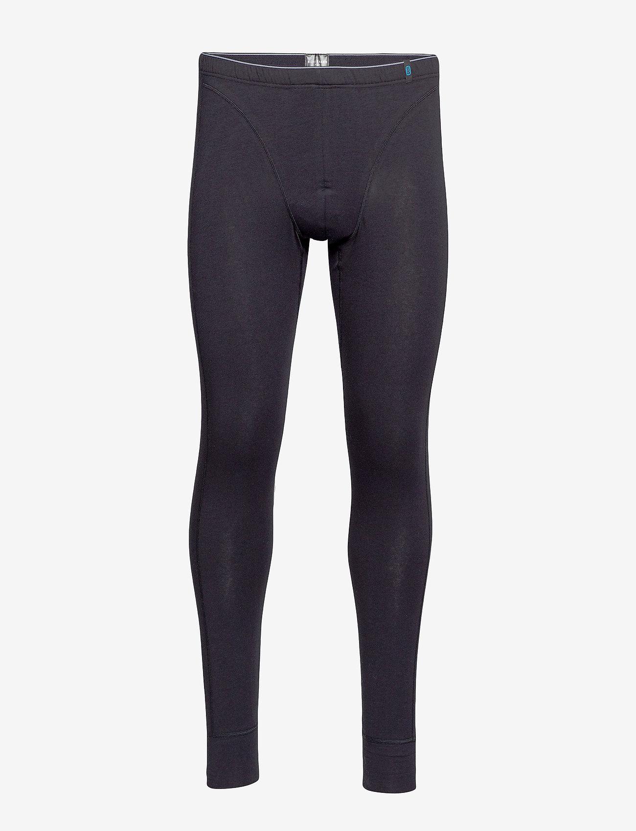 Schiesser - Long Pants - thermo onderbroeken - black - 0