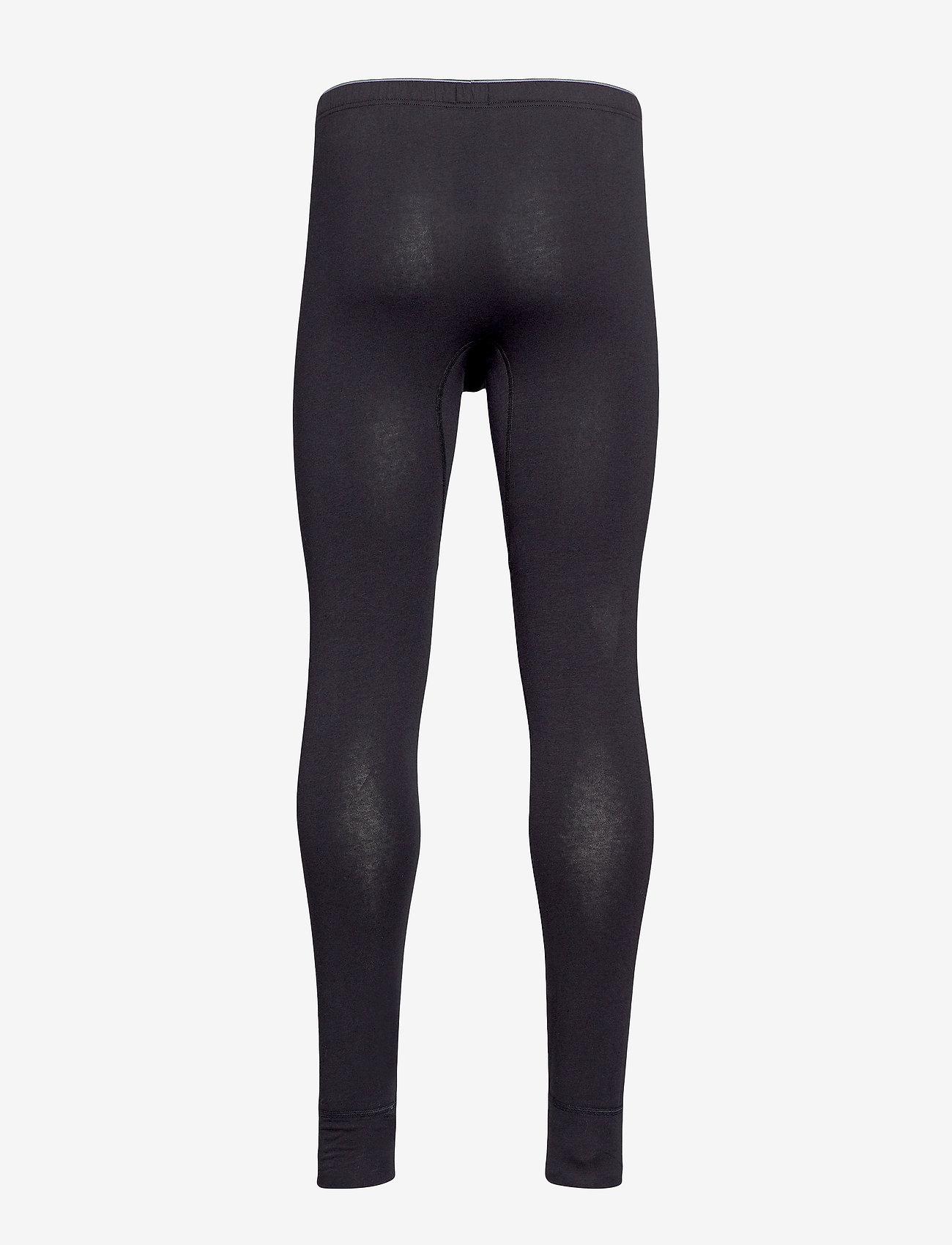 Schiesser - Long Pants - thermo onderbroeken - black - 1