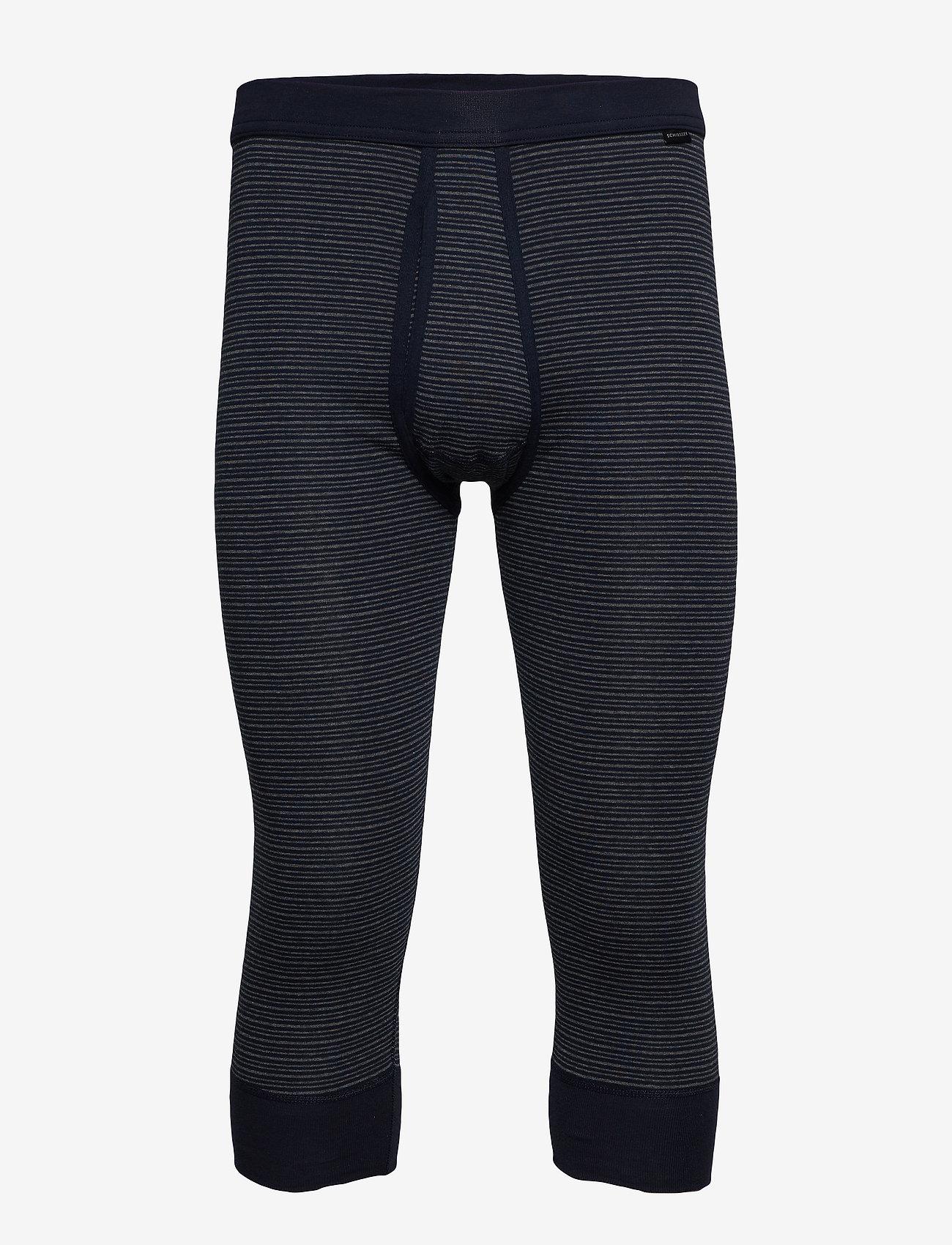 Schiesser - Pants 3/4 - base layer bottoms - dark blue - 0