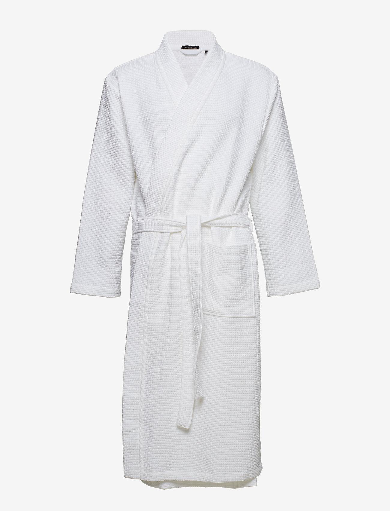 Schiesser - Bath Robe - badjassen - white - 0