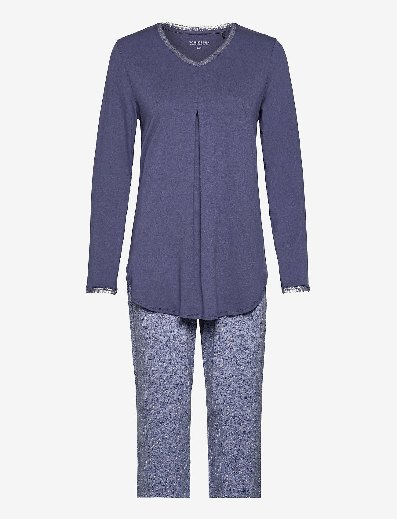 Schiesser - Pyjama Long - pyjama''s - blue - 0