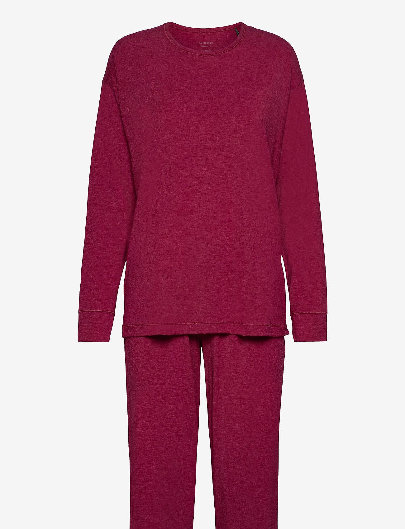 Schiesser - Pyjama Long - pyjama''s - cranberry - 0