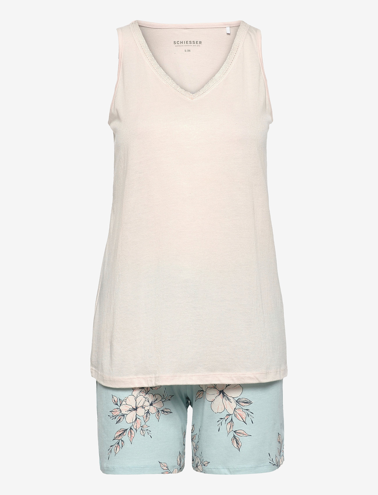 Schiesser - Pyjama Short - pyjama''s - mint green - 0